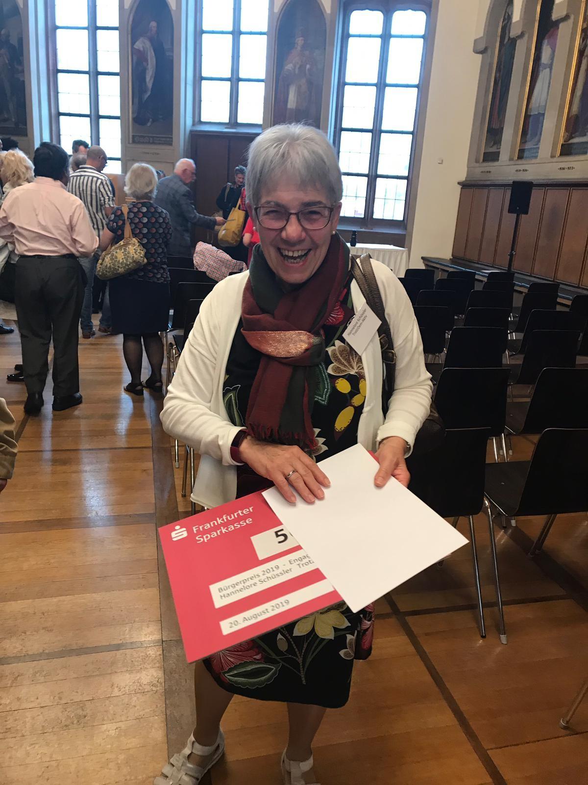 Auszeichnung Hannelore Schüssler